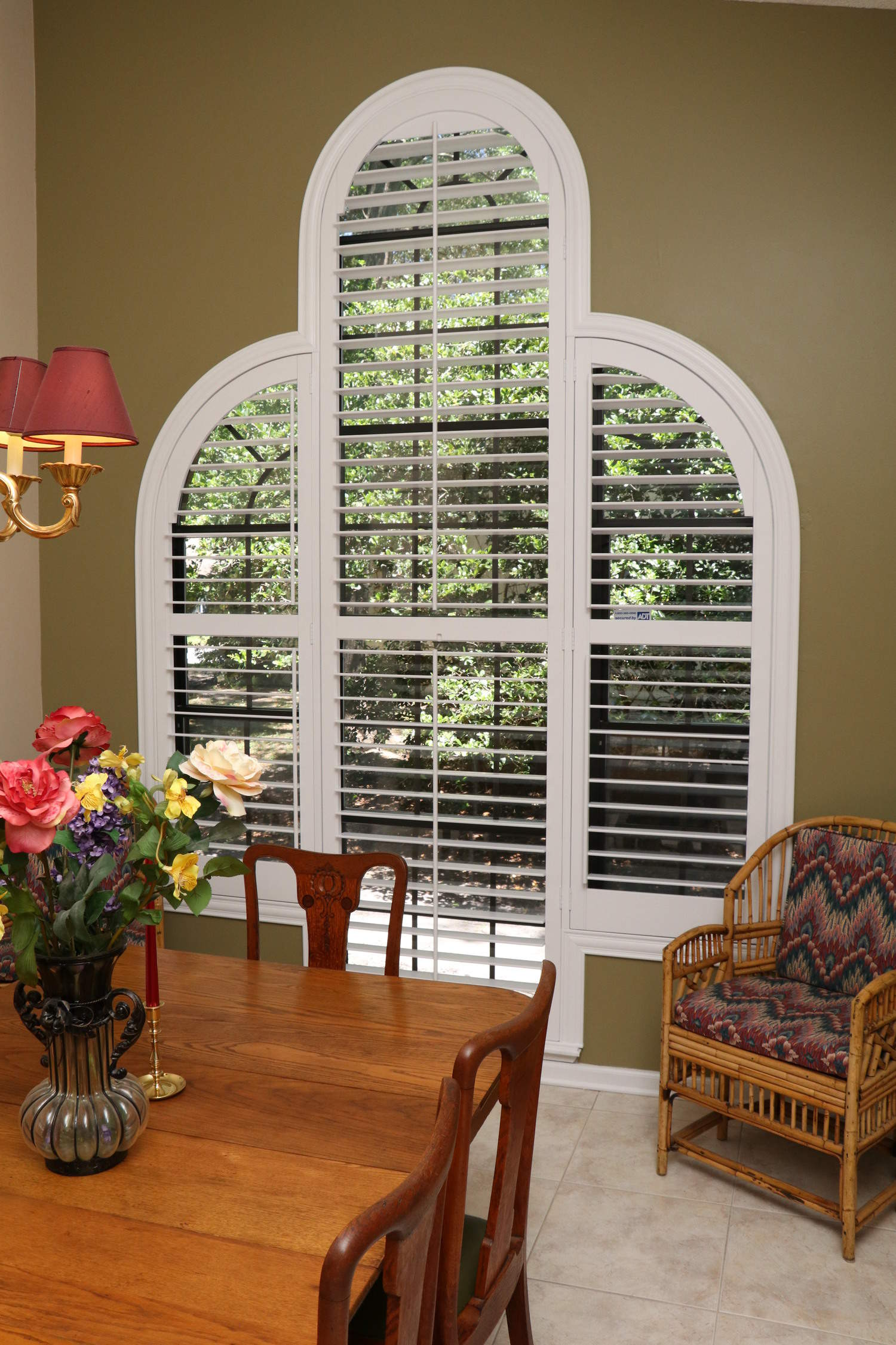 Gallery Motorized Woven Wood Blinds Decorate Espresso