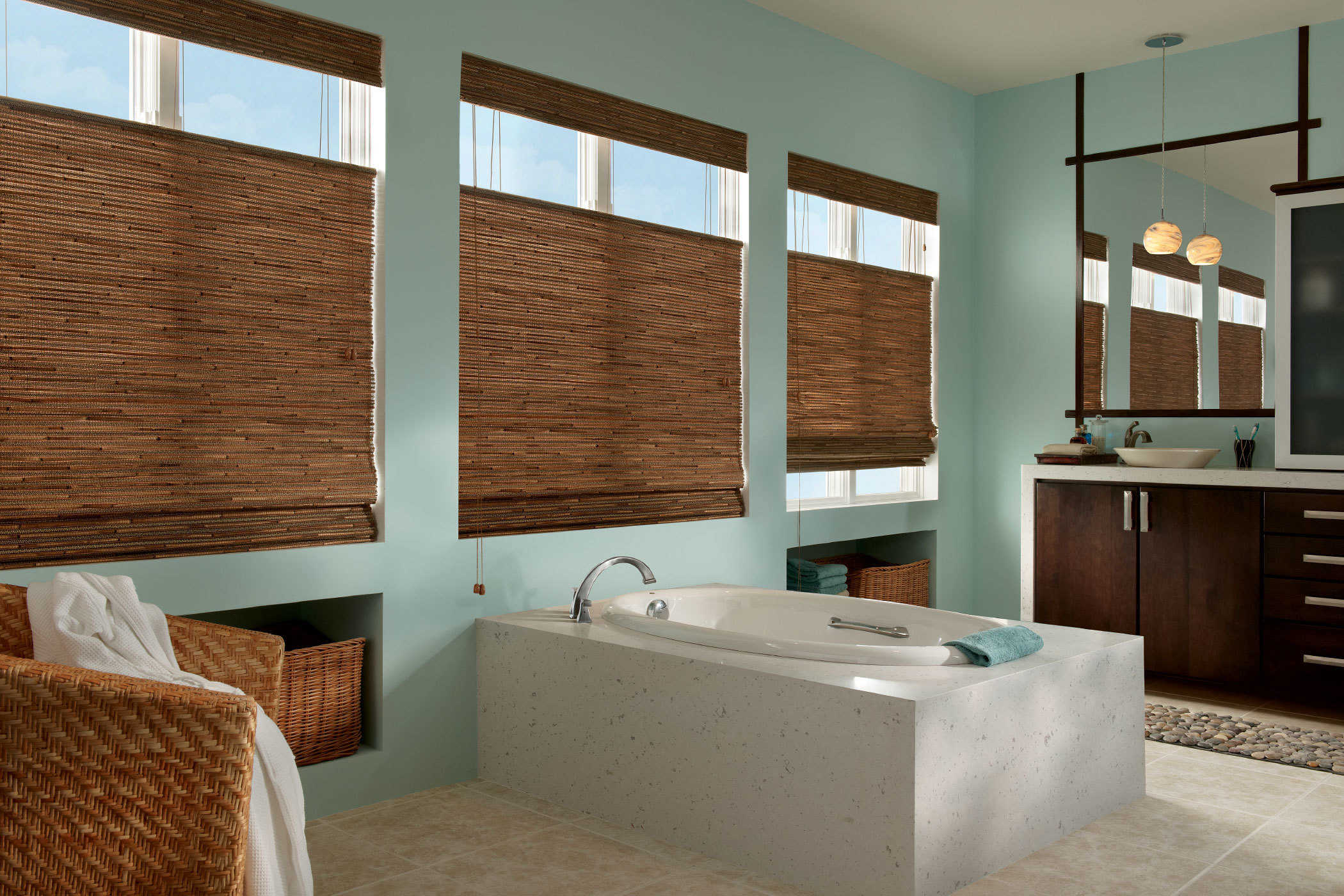 Woven Wood Shades With Top Down Bottom Up Jacksonville