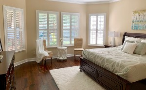 Shutters with Divider Rails