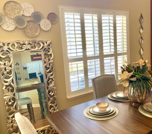 Shutters with T-Post and Divider Rail